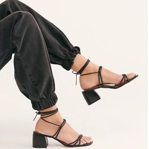 Free People Love Struck Lace-Up Heels